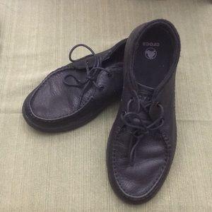 Lightweight Black Sperry-Style Boat Shoe Crocs